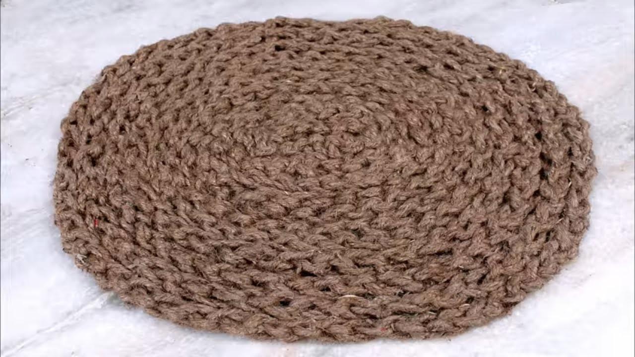 Easy and Fast Doormat Making Using Jute || DIY Craft || Jute Craft Idea || Handmade Doormat