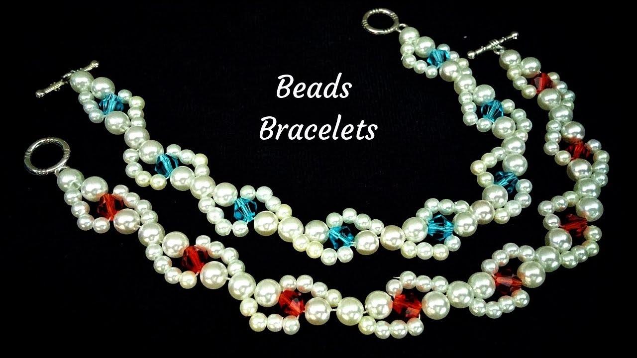 Easy beginner project.  Beaded bracelets. Bracelet design for diy bracelets
