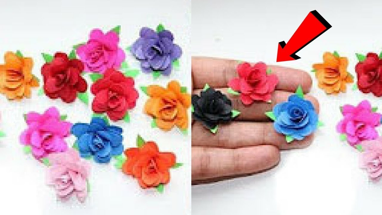 Easy Paper Flower Craft Paper Rose Flower Diy Paper Crafts Ideas