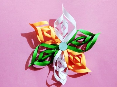 Easy to make paper craft for Independence day | Republic day paper craft | Tricolour paper craft