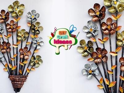 Empty Plastic Bottle Making Craft, Water Bottle Recycle Flower  Art Decoration Idea