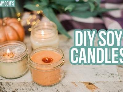 FALL DIY ???? 3 Ways to Make Soy Candles