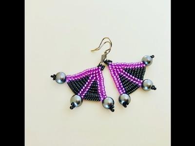 Fantastic Fan Earrings ???? DIY Beaded Earrings.How to make beaded Earrings