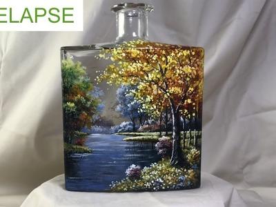 Fine Art Painting of Bottles -  TIMELAPSE version