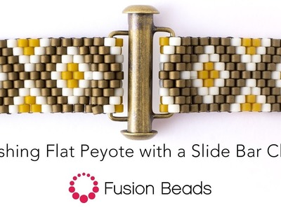 Finishing Flat Peyote with a Slide Bar Clasp
