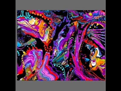 Fluid Acrylics Fix .New art over a Disaster to SPECTACULAR! #3071-7.7.18