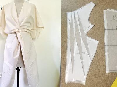 FRONT TWIST DRESS PATTERN TUTORIAL | KIM DAVE