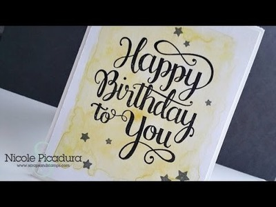 FTF #5: Happy Birthday To You! (Watercolor Background)