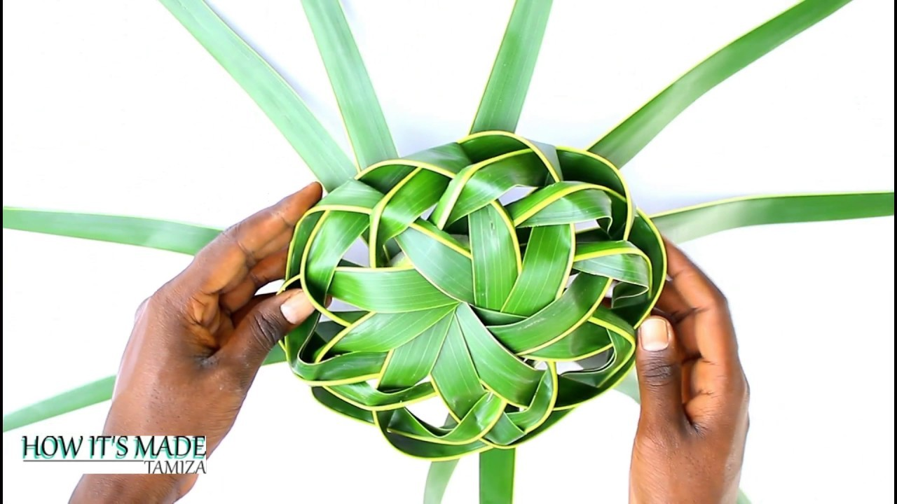 How It's Made - Coconut Leaf Basket