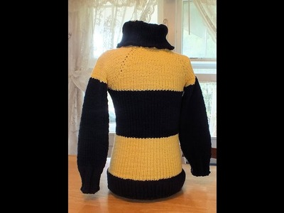 How to Loom Knit Bumble Bee Sweater (Includes Claculating for Sizing)