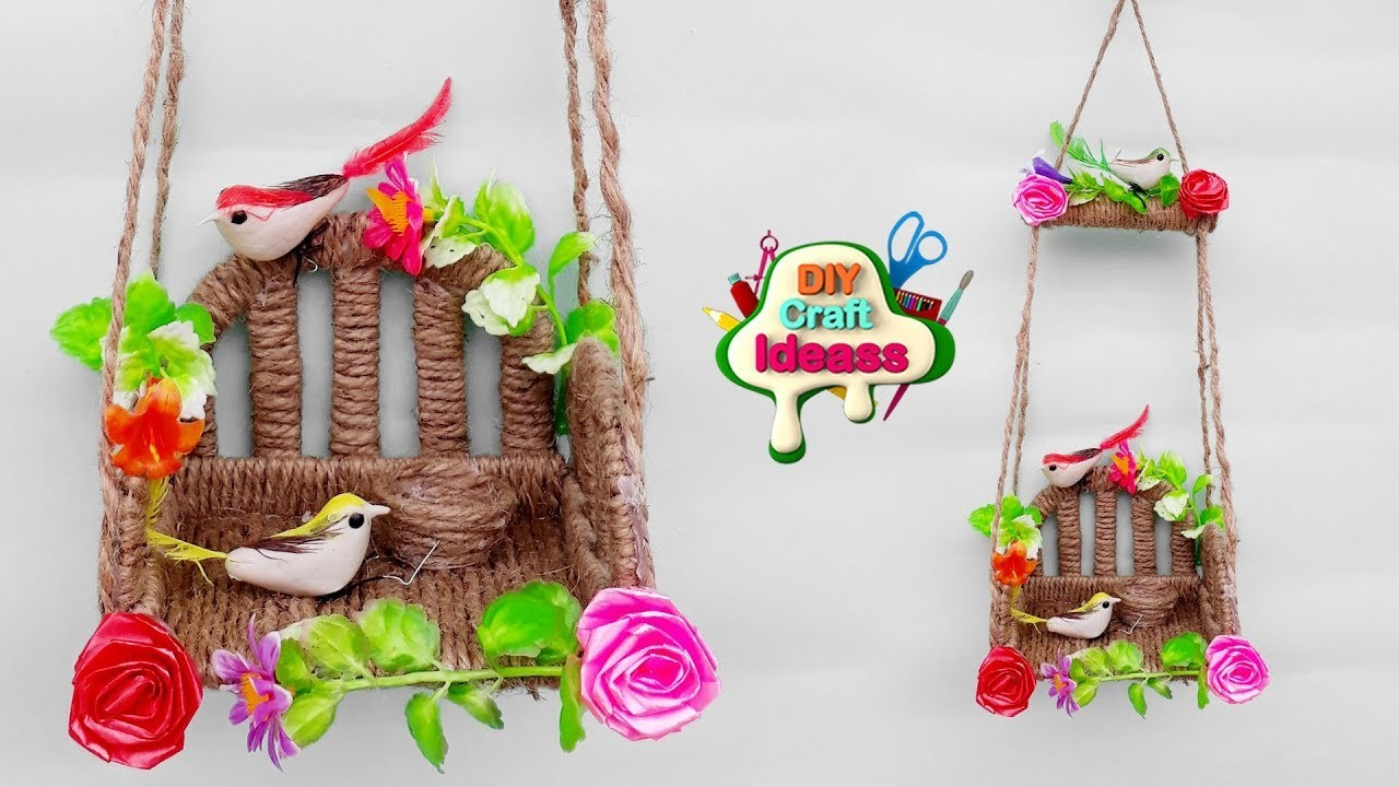 How to make a Birds Wall Hanging at home   best out of waste   diy craft ideas