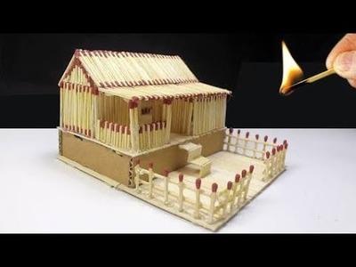 How to Make a firebox house at home. Matchbox craft