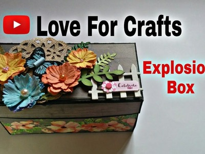 How to Make Explosion Box | DIY Valentine's Day. Anniversary Explosion Box