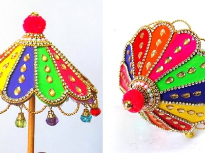 How to make Ganesh Umbrella | Ganesh Umbrella Making | ganesh chaturthi |ganpati umbrella decoration