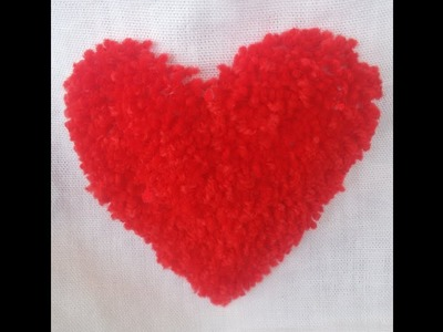 How to make Hand Embroidery - Make Velvet  Heart - Handy craft - All Style