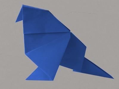 How to make ORIGAMI BIRD diy