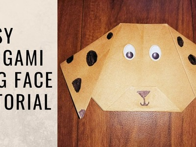 How to make Origami Dog Face | Origami for beginners | Crafts for kids