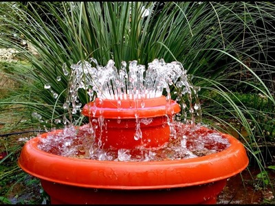 How to make Outdoor Fountain used Plastic Pots. DIY