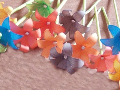 How to Make paper flowers - Paper Craft tutorial - Great Paper art