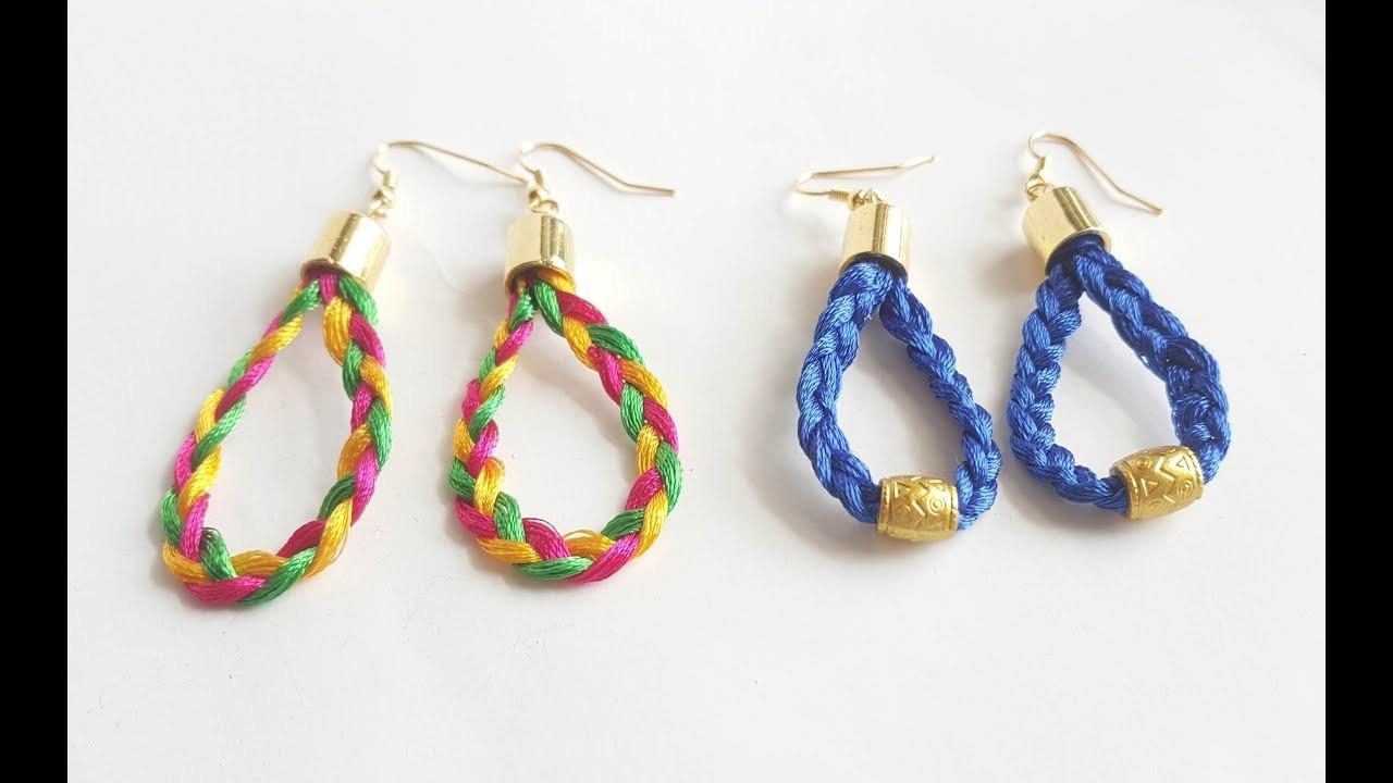 How To Make Silk Thread Earrings At Home. tassel earrings tutorial