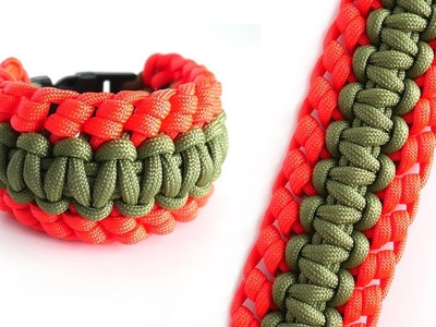 How To Make the Cobra Knuckle Paracord Bracelet Tutorial