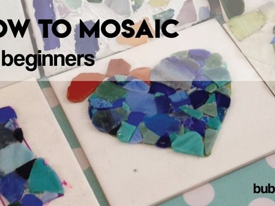 How to mosaic on a tile - for beginners
