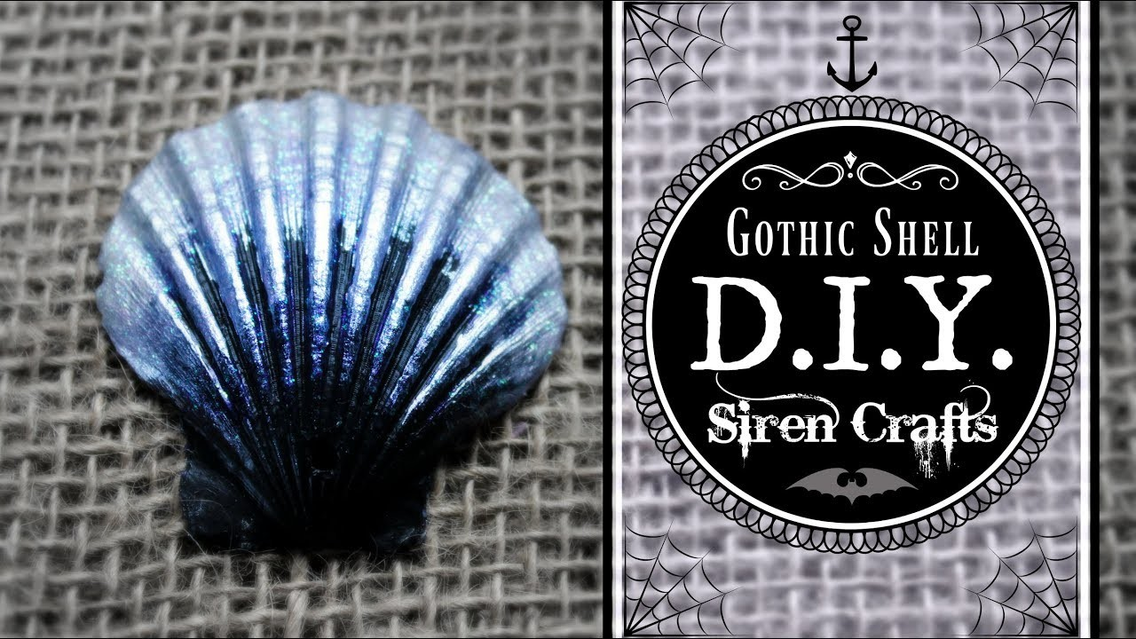 How to Paint on Seashells ♥ Sinister Siren Shell Craft ♥ Gothic Halloween Costume DIY #sirens