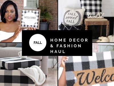 HUGE FALL & FASHION HAUL| HOME DECOR| FALL 2018| SHOPPING HAUL