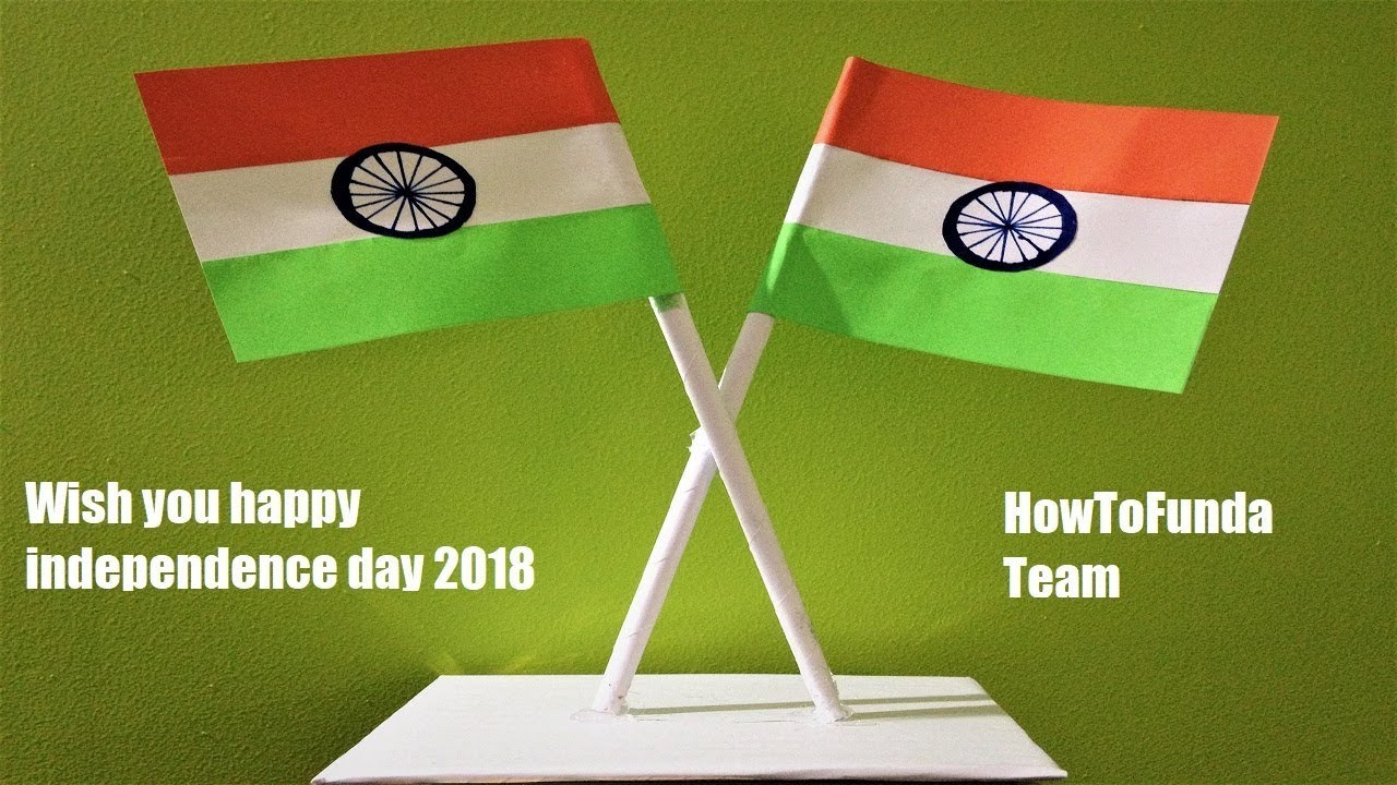 Craft For Flag Of India: Independence Day Craft 2018, Indian National Flag Craft