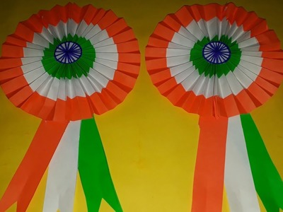 Independence day decorations.Independence day craft.Republic day crafts.Independence day badge.Badge