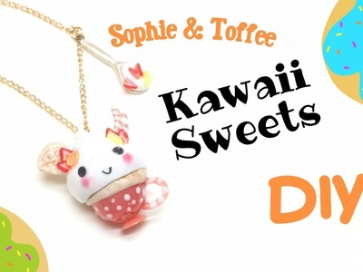 Kawaii Sweets- Sophie and Toffee- polymer clay and resin- August Elves Box