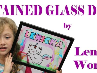 """Kid friendly """"stained glass"""" craft DIY!"""