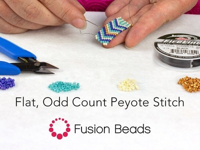 Learn Flat, Odd Count Peyote Stitch by Fusion Beads