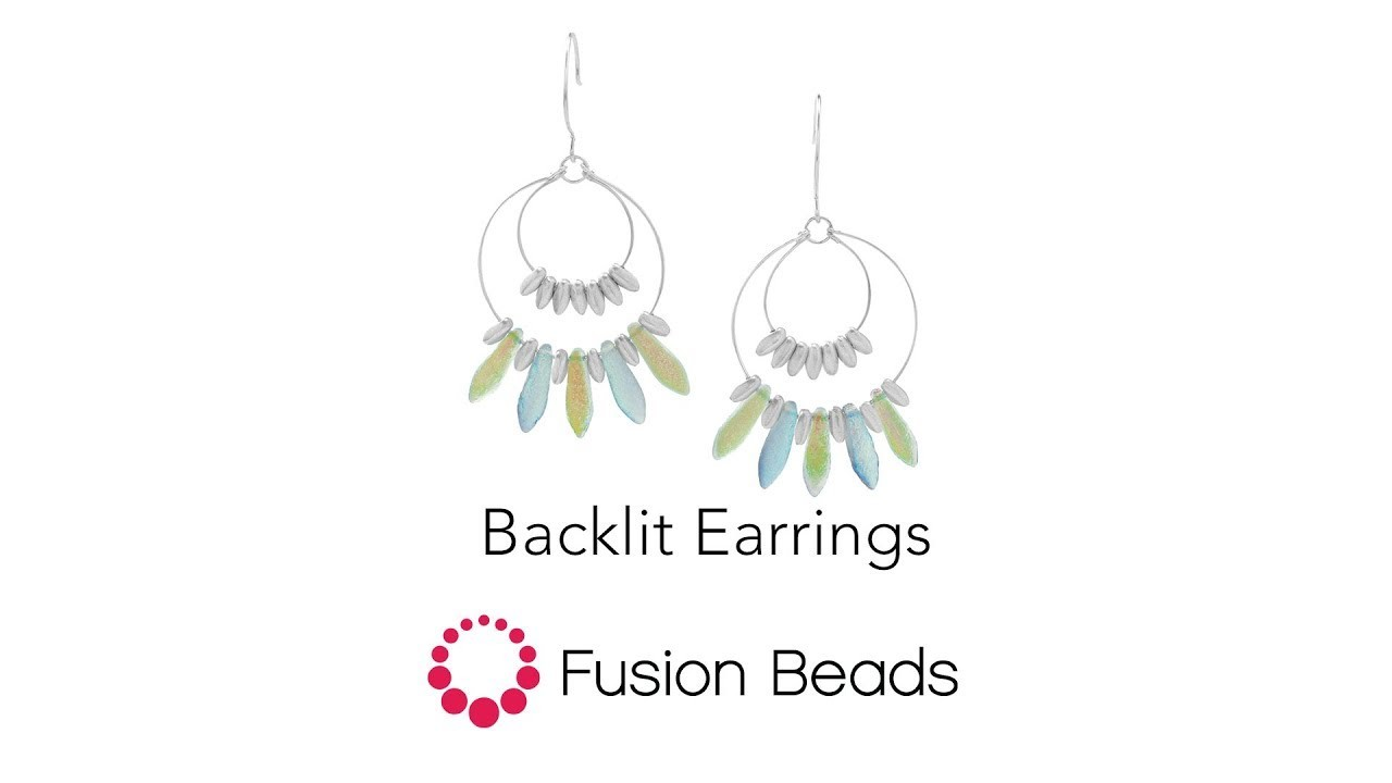 Learn how to create the Backlit Earrings by Fusion Beads