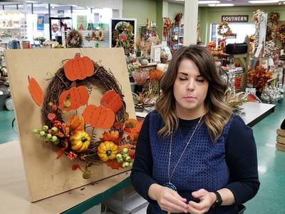 Make a Cute Fall Grapevine Wreath with Anna