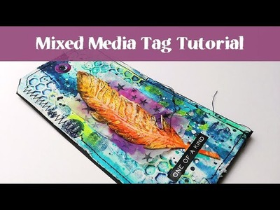 Mixed Media Process with Tim Holtz Feather and Scribble Sticks