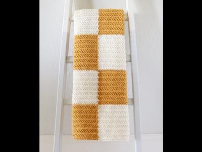 Modified HDC Half Stripe Crochet Blanket