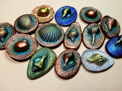 My NEW Result! Molded Sea Shells Charms and Cabochons for the gifts or for selling!