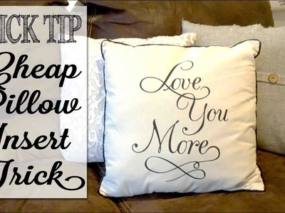 My Secret to Saving Money on Pillow Inserts | Quick Tip Tuesday