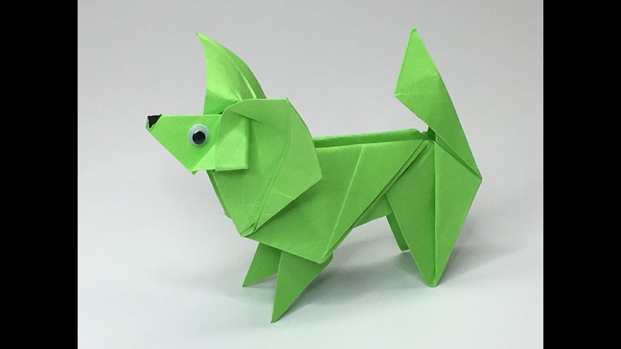 Origami Dog Papillon #4 - A to Z DIY ORIGAMI PAPER CRAFT