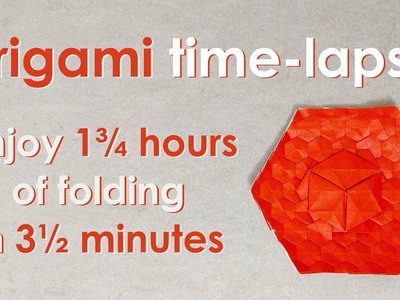 Origami Time-Lapse: 1-Cube Exercise Tessellation (Alessandro Beber)