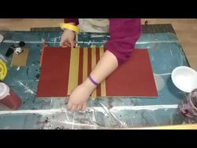 Painting Buffalo Plaid for signs Part 1
