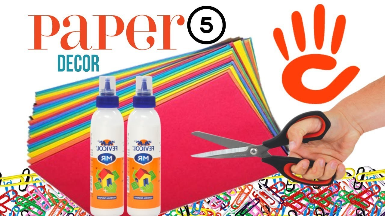 Paper crafts | diy room decor | paper craft ideas for room decoration