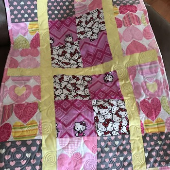 Baby Girl pink  change blanket
