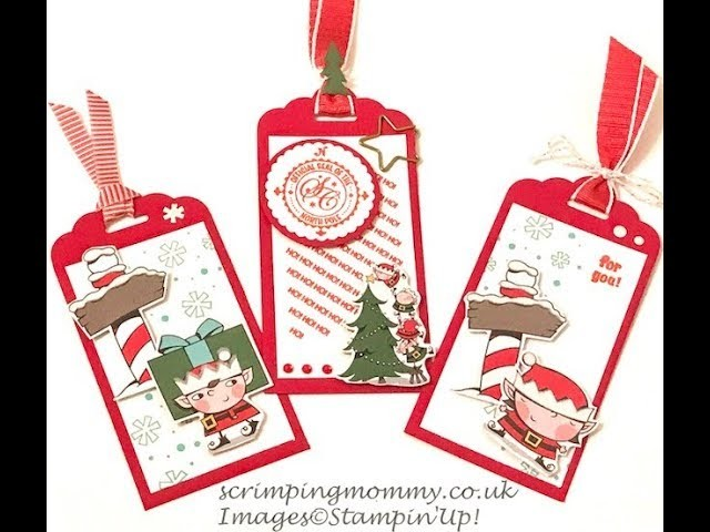 Quick Christmas tags, craft fair idea, no 10 of #100things