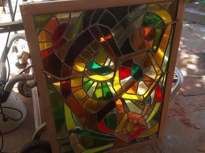 Quick look at a frame I made for a stained glass piece