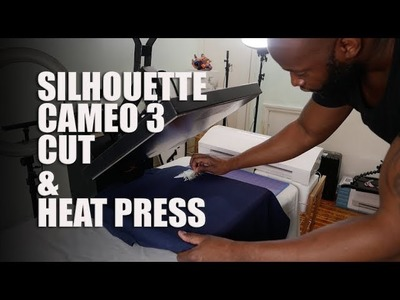 SILHOUETTE CAMEO 3 HEAT VINYL TRANFER (My first cut with the cameo 3)