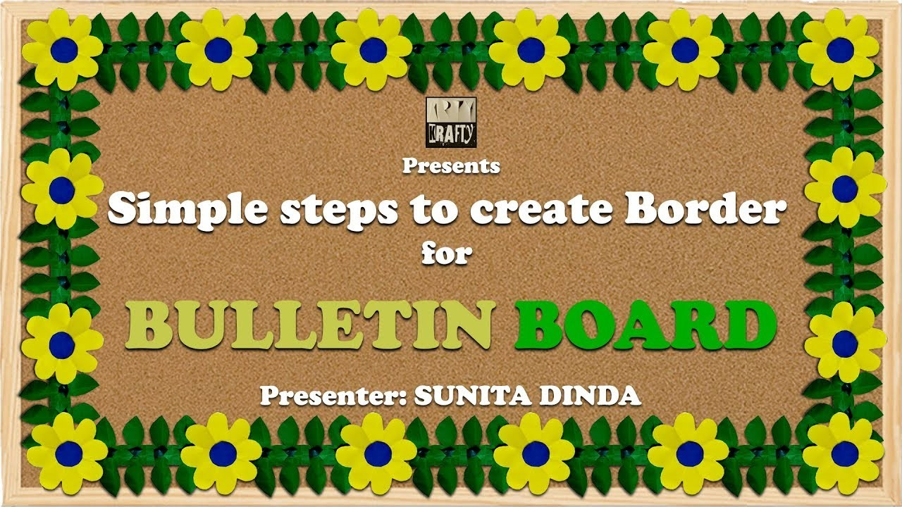 My Daughters Box Room Right Side: Simple Steps To Create BORDERS For Bulletin Boards In School
