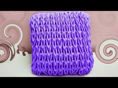 SMOCKING Cushion  cover making Design latest capiton fabric craft punto cojin