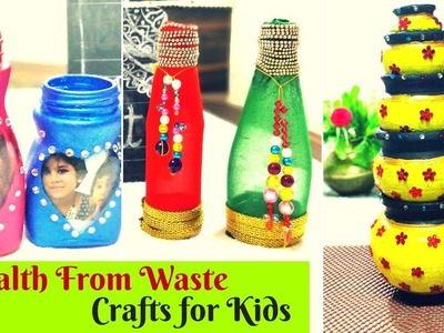 Top 3 Hobby ideas - For Kids - Wealth from Waste craft ideas